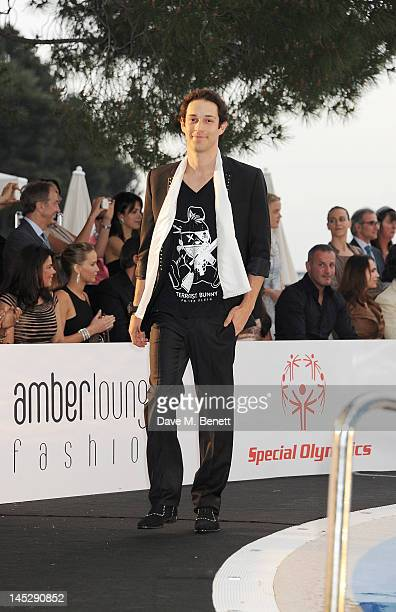 F1 Driver Bruno Senna walks the runway during the Amber Lounge Fashion Show Monaco 2012 at Le Meridien Beach Plaza Hotel on May 25 2012 in Monaco...