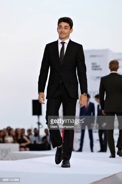 F2 driver Charles Leclerc at the Amber Lounge fashion show during previews to the Monaco Formula One Grand Prix at Circuit de Monaco on May 26 2017...