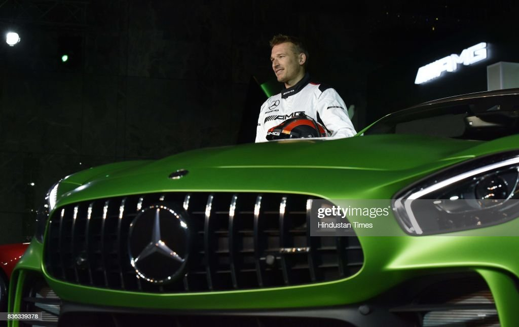 AMG Driver Christian Hohenadel at the launch of AMG GT R on August 21, 2017 in New Delhi, India.