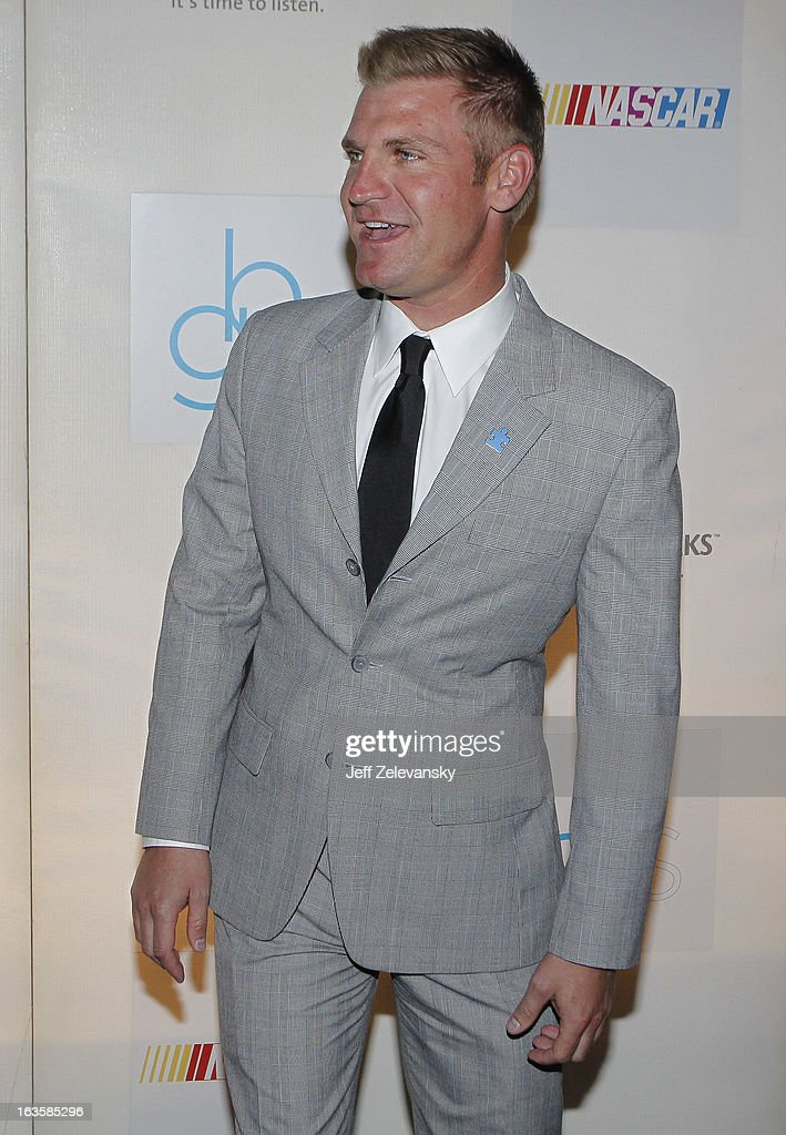 NASCAR driver Clint Bowyer arrives at 'Speeding For A Cure', a gala to benefit Autism Speaks held at the Metropolitan Museum of Art on March 12, 2013 in New York City.