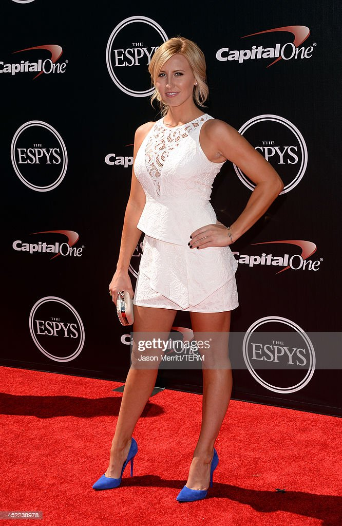 NHRA driver <a gi-track='captionPersonalityLinkClicked' href=/galleries/search?phrase=Courtney+Force&family=editorial&specificpeople=8957288 ng-click='$event.stopPropagation()'>Courtney Force</a> attends The 2014 ESPYS at Nokia Theatre L.A. Live on July 16, 2014 in Los Angeles, California.