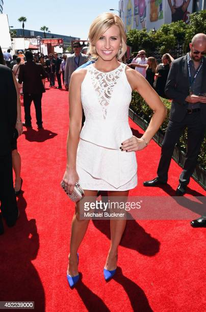 NHRA driver Courtney Force attends The 2014 ESPYS at Nokia Theatre LA Live on July 16 2014 in Los Angeles California