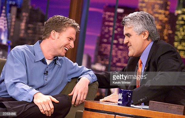 NASCAR driver Dale Earnhardt Jr on 'The Tonight Show with Jay Leno' at the NBC Studios in Los Angeles Ca Monday October 2001 Photo by Kevin...