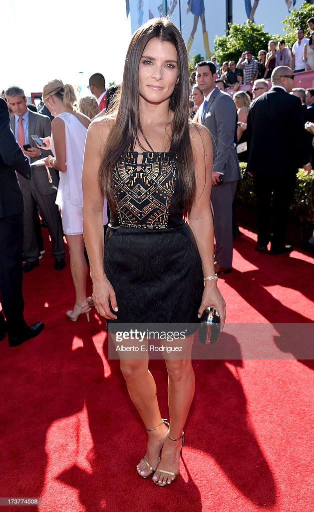 NASCAR driver <a gi-track='captionPersonalityLinkClicked' href=/galleries/search?phrase=Danica+Patrick&family=editorial&specificpeople=183352 ng-click='$event.stopPropagation()'>Danica Patrick</a> attends The 2013 ESPY Awards at Nokia Theatre L.A. Live on July 17, 2013 in Los Angeles, California.