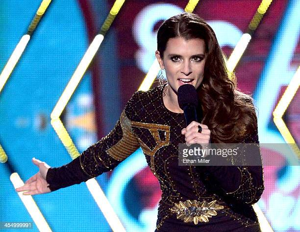 NASCAR driver Danica Patrick cohosts the American Country Awards 2013 at the Mandalay Bay Events Center on December 10 2013 in Las Vegas Nevada