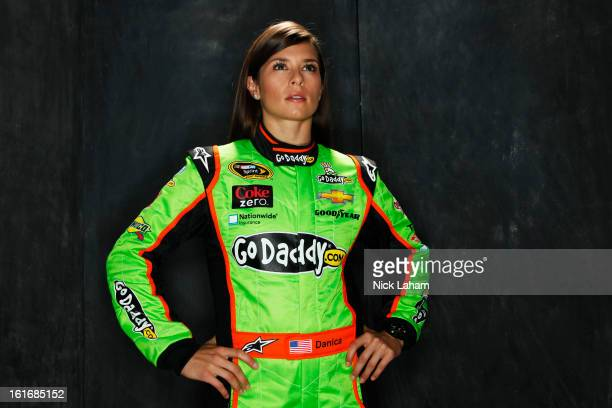 Driver Danica Patrick poses during portraits for the 2013 NASCAR Sprint Cup Series at Daytona International Speedway on February 14 2013 in Daytona...