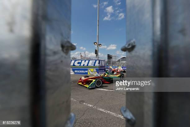 Driver Daniel Abt for Audi Sport ABT Schaeffler on track during the Formula E Qualcomm New York City ePrix on July 15 2017 in New York City