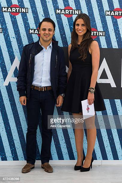 RACING driver Felipe Massa and Spanish sports presenter Lucia Villalon arrive at Terrazza MARTINI to announce Bar Refaeli as the global MARTINI race...