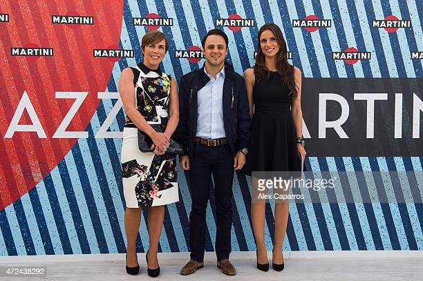 RACING driver Felipe Massa Spanish sports presenter Lucia Villalon and Williams Deputy Team Principle and Commercial Director Claire Williams arrive...