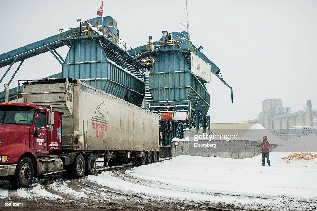 A driver handles a shipment at the Resolute Forest Products mill in Thunder Bay Canada Ontario on Friday Jan 8 2016 Resolute Forest Products the...