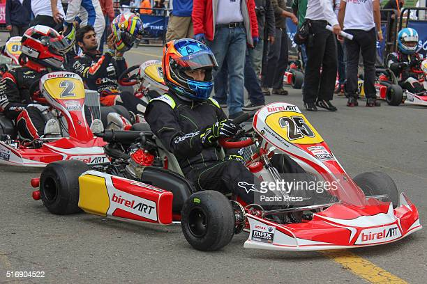 Driver in GP3 Series of the team Arden International during drivers motorsport in Bogota Colombia