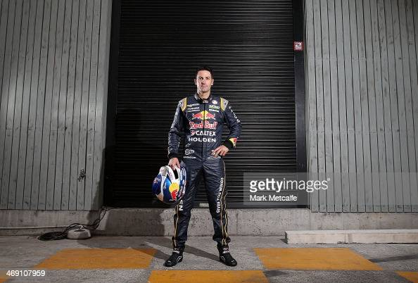 Driver Jamie Whincup poses during the Red Bull Racing V8 Supercars season launch at the Atrium on February 13 2014 in Sydney Australia
