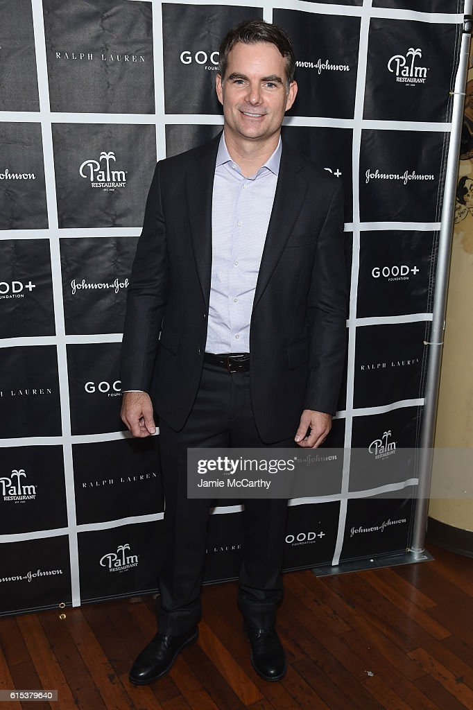 NASCAR driver Jeff Gordon attends the New York Fatherhood Lunch to benefit GOOD+ Foundation on October 18, 2016 in New York City.