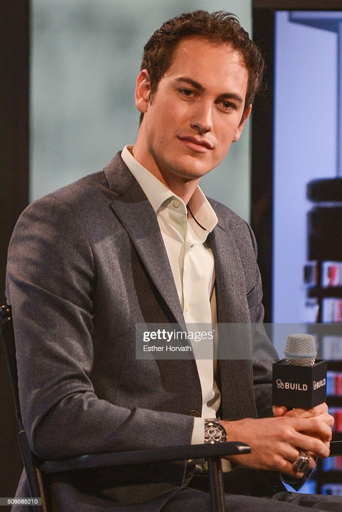 Driver <a gi-track='captionPersonalityLinkClicked' href=/galleries/search?phrase=Joey+Logano&family=editorial&specificpeople=4510426 ng-click='$event.stopPropagation()'>Joey Logano</a> discusses at AOL Studios In New York on February 11, 2016 in New York City.