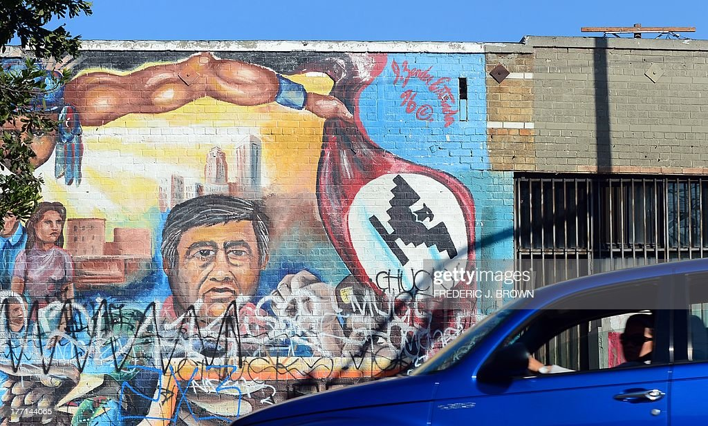 Cesar chavez getty images for Cesar chavez mural