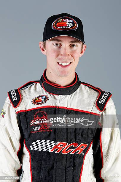 Driver Michael Self poses during a portrait session for the NASCAR KN Series West at Phoenix International Raceway on March 2 2012 in Avondale Arizona