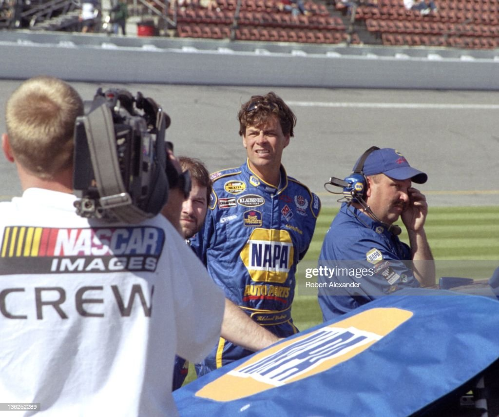 NASCAR driver Michael Waltrip waits for his turn to attempt to qualify for the 2005 Daytona 500 at the Daytona International Speedway on February 19...