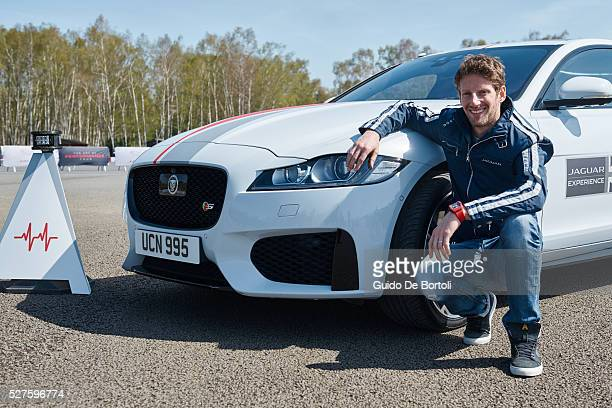 Driver Romain Grosjean is the first to try the innovative Jaguar 'Smart Cones' driving challenge in a Jaguar XF Drivers around the world invited to...