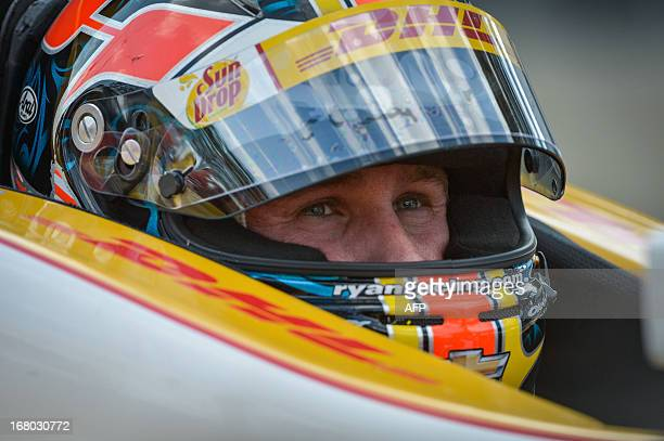 US driver Ryan HunterReay of Andretti Autosport team waits in the cockpit of his car during the qualifying session of the Itaipava Sao Paulo Indy 300...