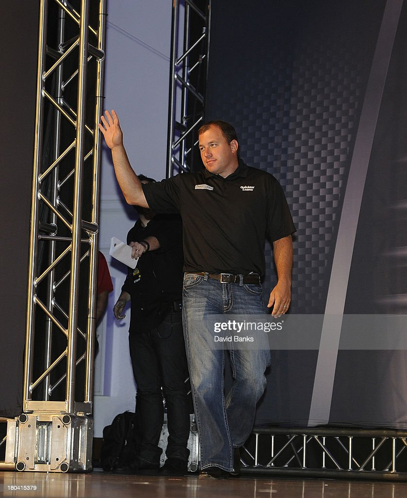 NASCAR driver Ryan Newman is introduced during the Chase for the Sprint Cup Contenders Live on September 12, 2013 in Chicago, Illinois.