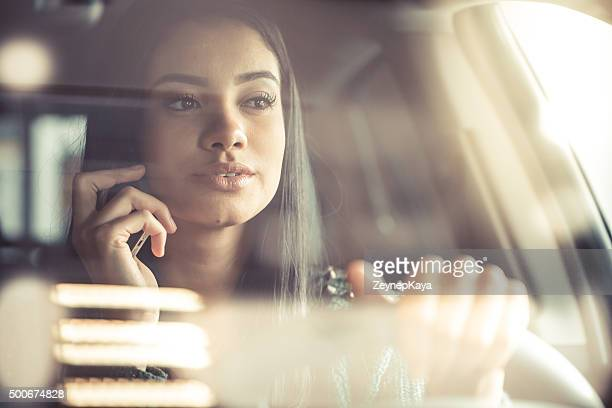 driver talking with phone