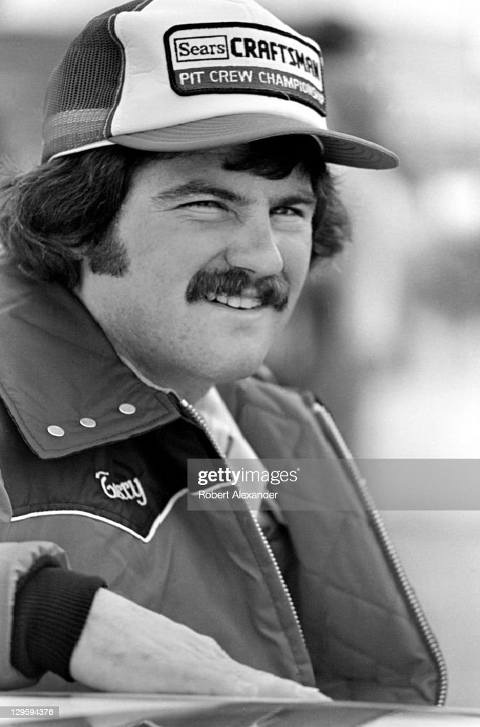 NASCAR driver Terry Labonte stands beside his car prior to the start of the 1982 Daytona 500 at the Daytona International Speedway on February 14...