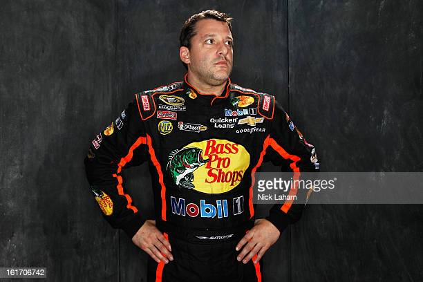 Driver Tony Stewart poses during portraits for the 2013 NASCAR Sprint Cup Series at Daytona International Speedway on February 14 2013 in Daytona...