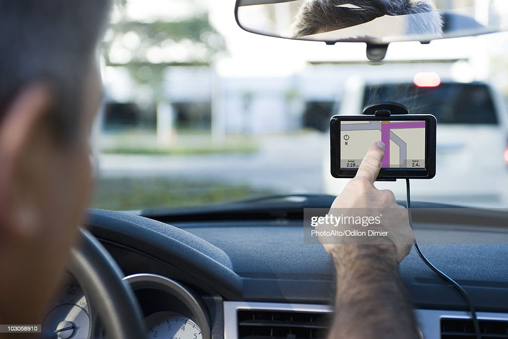 Driver using GPS for navigational assistance