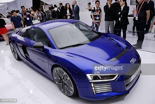 A driverless car from Audi is seen on display during the first Consumer Electronics Show in Asia in Shanghai on May 26 2015 More than 200 technology...
