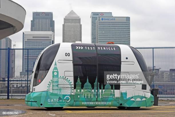 A driverless vehicle is run as part of the selfdriving vehicle trials launched in Greenwich London The GATEway Project involves autonomous shuttles...