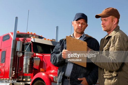 Drivers and Clipboard : Stock Photo