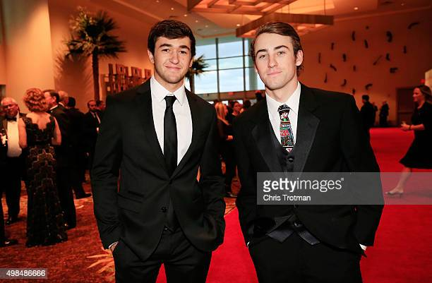 Drivers Chase Elliott and Ryan Blaney attend the NASCAR Camping World Truck Series and XFINITY Series Banquet at the Westin Diplomat on November 23...
