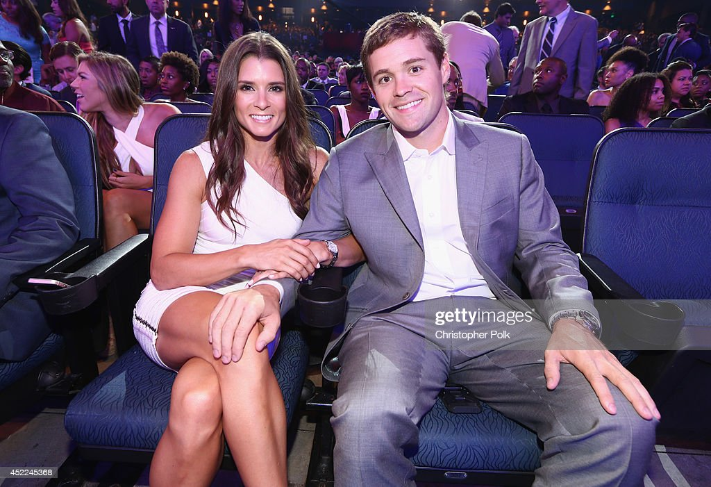 NASCAR drivers <a gi-track='captionPersonalityLinkClicked' href=/galleries/search?phrase=Danica+Patrick&family=editorial&specificpeople=183352 ng-click='$event.stopPropagation()'>Danica Patrick</a> (L) and <a gi-track='captionPersonalityLinkClicked' href=/galleries/search?phrase=Ricky+Stenhouse+Jr.&family=editorial&specificpeople=5380612 ng-click='$event.stopPropagation()'>Ricky Stenhouse Jr.</a> attend The 2014 ESPYS at Nokia Theatre L.A. Live on July 16, 2014 in Los Angeles, California.