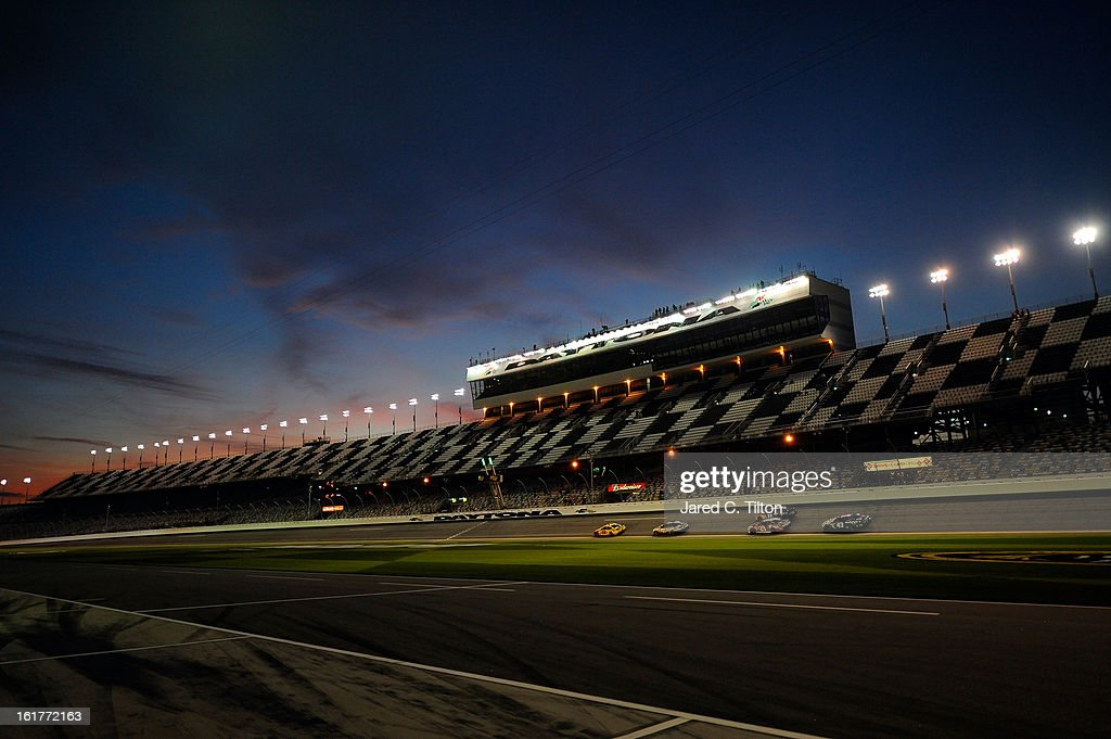 Drivers during the first day of practice for the NASCAR Sprint Cup Series Sprint Unlimited at Daytona International Speedway on February 15, 2013 in Daytona Beach, Florida.