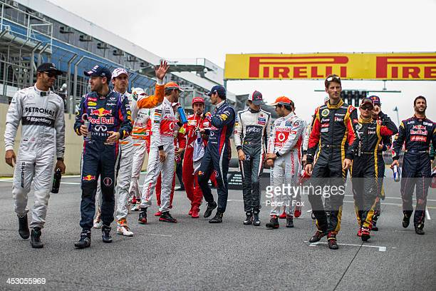 Drivers Parade during the Brazilian Formula One Grand Prix at Autodromo Jose Carlos Pace on November 24 2013 in Sao Paulo Brazil