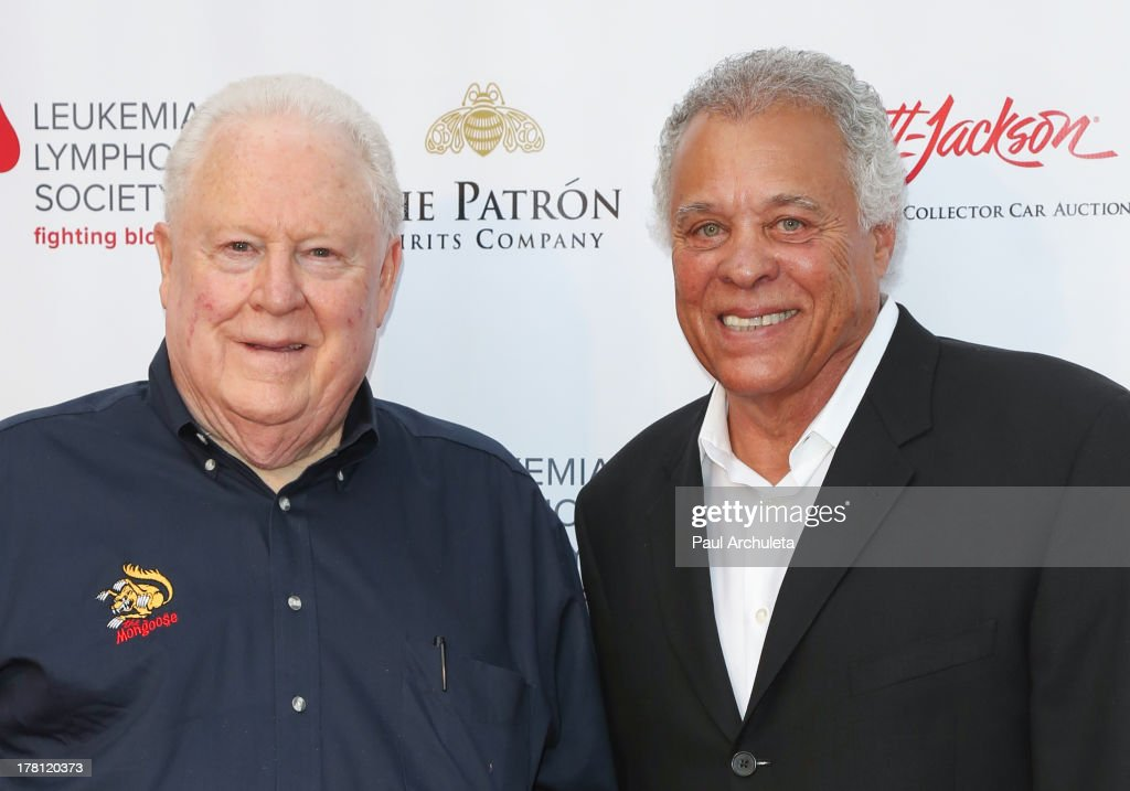 Drivers Tom 'The Mongoo$e' McEwen (L) and Don 'The Snake' Prudhomme (R) attends the premiere of 'Snake & Mongoo$e' at the Egyptian Theatre on August 26, 2013 in Hollywood, California.