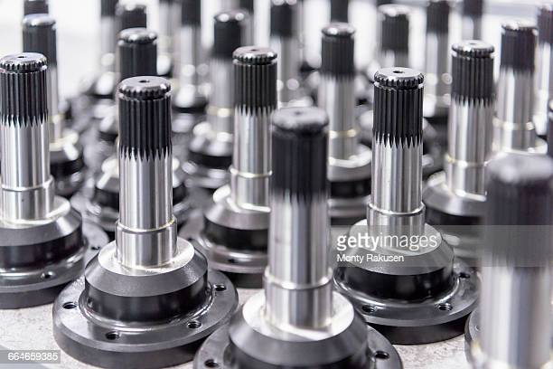 Driveshaft detail in racing car factory