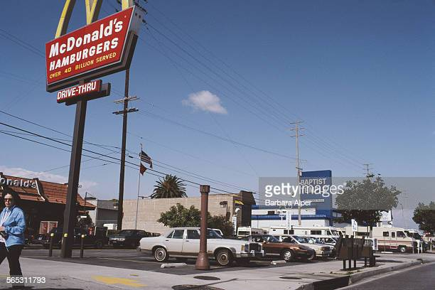 A drivethrough McDonald's in Los Angeles USA March 1983