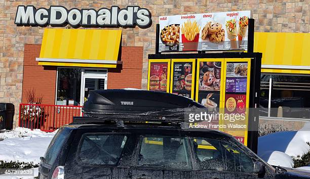 TORONTO ON DECEMBER 16 Drivethru at any McDonald's on Eastern Ave Fast food industry tackles innovations at the drive thru amid longer wait times and...