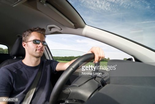 Driving a Car : Stockfoto