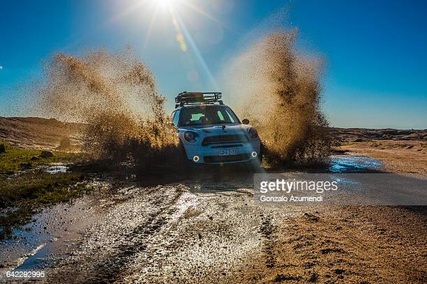 Driving a Mini over the mud off road