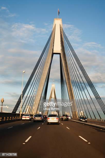 Driving across Glebe Bridge