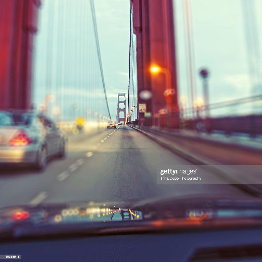 Driving Across Golden Gate Bridge
