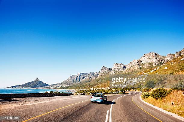 Driving along coast road past Twelve Apostles towards Cape Town