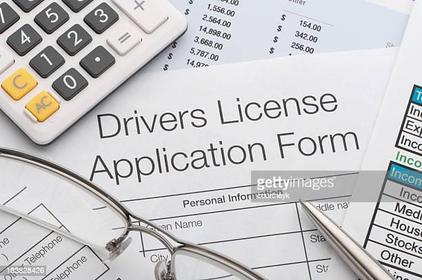Condução formulário de pedido de
