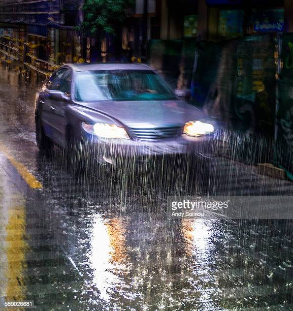 Driving at Night in the Rain
