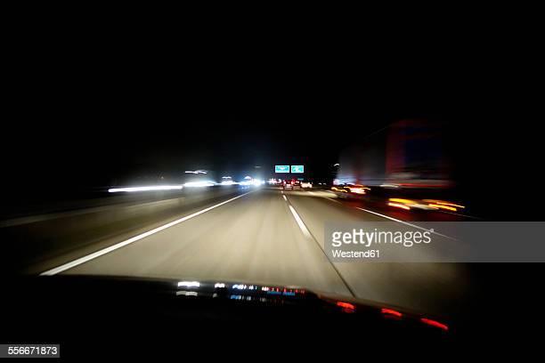 Driving at night on Autobahn