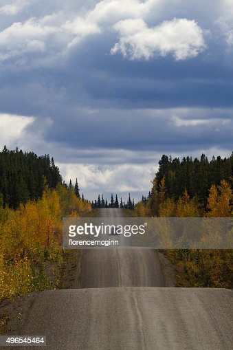 Driving Cassiar-Stewart Highway in British Columbia : Stock Photo