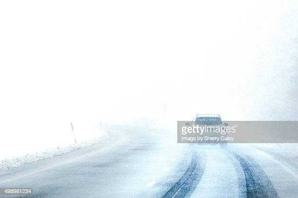 Driving in a blizzard