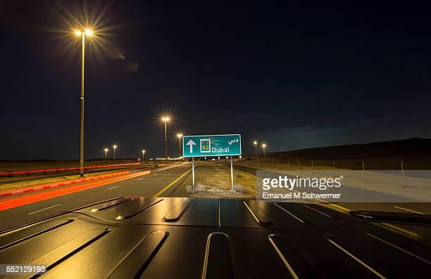 driving into the city of Dubai